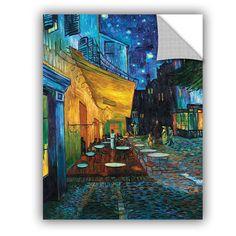 Café Terrace by Vincent Van Gogh Art Appeelz Removable Wall Mural