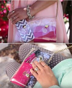 DIY Clear Crossbody Clutch