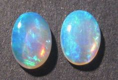 Super bright pair of Australian Mintabie Crystal Opal Solid Cut Stones - available in our beautiful Opal Store - over 1100 items listed :) .....