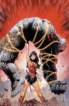 DAMAGE Written by Robert Venditti, art and cover by Tony S. Daniel and Danny Miki. Even the unstoppable power of Wonder Woman herself is tested by the destructive might of the monster unleashed from Ethan Avery's transformation into Damage! Arte Dc Comics, Dc Comics Art, Anime Comics, Dc Comics Women, Wonder Woman Y Superman, Wonder Woman Art, Wonder Woman Comic, Wonder Women, Heros Comics