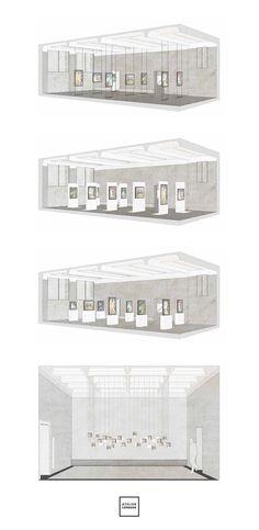 """Atelier Lorbeer   Ausstellungsgestaltung """"Der doppelte Kirchner""""   Kunsthalle Mannheim"""