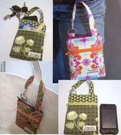 Grab n Go Cell phone Wallet with Joel Dewberry's Flower Fields in Grass
