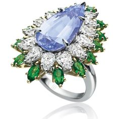 Harry Winston precious stone ring