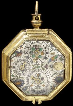 Watch Place of origin: Augsburg, Germany (made) Date: 1600 (made) Artist/Maker: Buz, Johannes (movement) Materials and Techniques: Engraved and gilt brass; silver with champlevé and basse taille enamel
