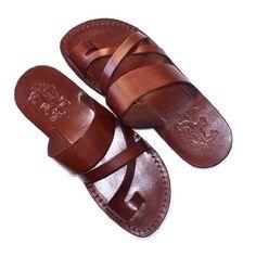 Unisex adults/children Genuine Leather Biblical Sandals /...