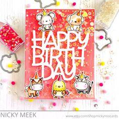 Nicky Noo Cards: Lunar Animals Infinity Shaker - Mama Elephant