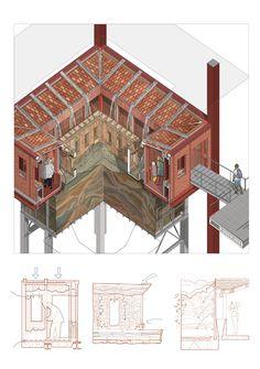 Architecture Concept Drawings, Pavilion Architecture, Architecture Collage, Architecture Graphics, Architecture Student, Architecture Portfolio, Gothic Architecture, Architecture Details, Rendering Architecture