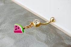 Summer Watermelon Belly Button Ring by BodyLoveJewelry on Etsy, $15.00