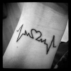 tatouage poignet battement de coeur