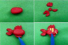 Schöne Tiere aus Knete mit Kinder basteln-dekoking-com