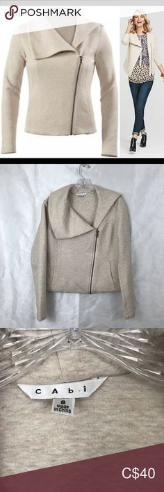 """CABI QUILTED RYDER MOTO SIZE SMALL Oatmeal quilted moto zip front jacket. Cropped style with asymmetrical zipper. Front pockets. 18.5"""" across bust. 23"""" length.  ⭐️ TOP RATED SELLERS ⭐️ 💰 LIKE IT? SEND US A REASONABLE OFFER 💰 🔥 BUNDLE ITEMS TO GET A BETTER DISCOUNT🔥 💌 WE SHIP WITHIN 48HRS 💌 CAbi Jackets & Coats Plus Fashion, Fashion Tips, Fashion Trends, Top Rated, Oatmeal, Jackets For Women, Leather Jacket, Coats, Ship"""