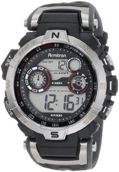 #armitronsportwatches-armitronallsport #armitronwatches Armitron Sport Men's 408231RDGY Digital Watch Check https://www.carrywatches.com