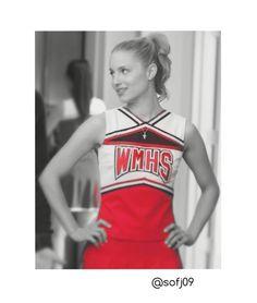 Quinn Fabray in her Cheerios outfit❤️ #Glee #QuinnFabray #GleeCheerios