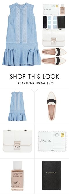 """#101"" by darina-kozlova ❤ liked on Polyvore featuring Ermanno Scervino, Kate Spade, Design Inverso, Asprey, Korres, Smythson and MAC Cosmetics"