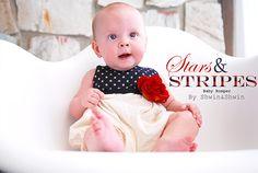 Stars and Stripes Baby Romper {Free PDF Pattern} (Shwin&Shwin)