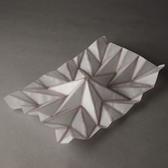 """Modified inkjet that produces self-folding paper forms - Project """"Hydro-Fold"""" - by Christophe Guberan, student at ECAL"""