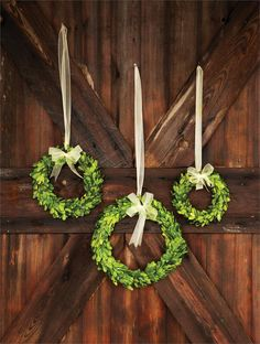 Preserved boxwood wreaths with ribbon trim make elegant home décor in any season. Find a variety of all natural preserved boxwood wreaths at Décor Steals. Elegant Home Decor, Diy Home Decor, Farmhouse Style, Farmhouse Decor, Vintage Farmhouse, Country Decor, Rustic Decor, Park Hill Collection, Preserved Boxwood