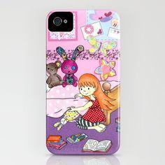 Tidying Up - iPhone case by jadeboylan - http://society6.com/jadeboylan/Wheres-Charlie-Bonnies-Room_iPhone-Case