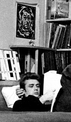 James Dean photographed by Dennis Stock in his apartment on West 68th Street, New York ~ 1955