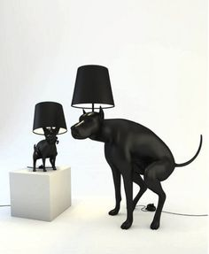 Dog Pooping Lamps - Just step on the poo to turn on the light.