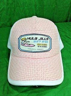 119b95eab6e Hula Jills Surf Wax Hat Blonde Boogie Hawaii Beach Pink Snapback Trucker Cap   Zephyr  Trucker