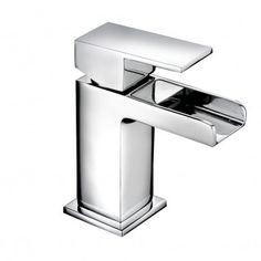 Better Bathrooms is proud to present the Quadra™ cloakroom waterfall basin mixer tap. This tap features an open faucet so you can see the water running out of the tap, creating an elegant waterfall effect. You can control the water flow and the temperat