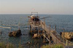 Trabocco in San Vito Chietino, Abruzzo.