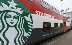 Starbucks unveiled its first location on wheels on the SBB train line running from Geneva to St. Gallen in Switzerland. shops, coffee, geneva, switzerland, concept stores, design blogs, trains, retail, starbucks