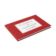 #Wedding - Shiny Glitter Shimmer - Red Guest Book - #WeddingGuestBook #Wedding #Guest #Books #Guestbook Wedding Guest Books