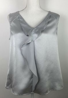 58cb805e4f0c9 Anne Klein Womens Large L Sleeveless Blouse Top Career Silver Gray Suit  Seperate