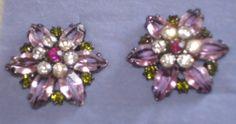 Avon Berry Colored Button Earrings-Pierced