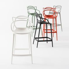Continuing with the success of the original Masters chair, Kartell has launched the Masters bar stool co-designed by Eugeni Quitllet and Philippe Starck.