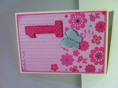 Happy 1st Birthday to Caitlin. #card #1yr #handmade #girl #happybirthday #birthday