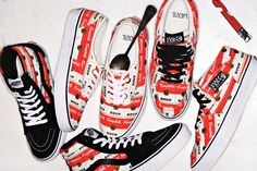Supreme x Vans Campbell's Soup Collection- who wants some soup?.  Campbell@iconic pop art brand