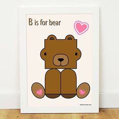 B is for Bear abcanimals.cool