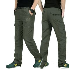 a1623ff42440 LOMAIYI Plus Size Mens Military Style Cargo Pants Men Summer Breathable Male  Trousers Joggers Army Pockets Casual Pants