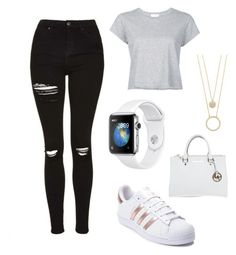 """""""Untitled #2"""" by gabporto on Polyvore featuring RE/DONE, adidas, Michael Kors and Kate Spade"""