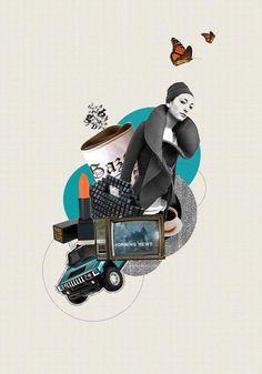 Good morning collage by antigoni vasilaki, via behance illustration inspira Collages, Digital Portrait, Digital Collage, Tattoo Foto, Gfx Design, Magazine Collage, Collage Illustration, Photocollage, Fashion Collage