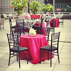 <3 the Barbie pink and black chairsWedding Color Pink - Pink Wedding Ideas | Wedding Planning, Ideas & Etiquette | Bridal Guide Magazine