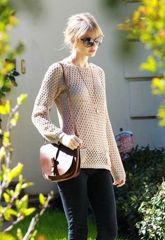 "style: casual (she'd probably wear something ""appropriate"" beneath this sweater, still)"