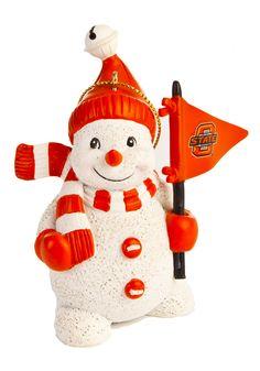 Oklahoma State Cowboys Snowman Ornament