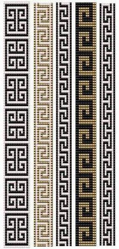 off loom beading techniques Loom Bracelet Patterns, Bead Loom Bracelets, Bead Loom Patterns, Peyote Patterns, Jewelry Patterns, Free Mosaic Patterns, Geometric Patterns, Inkle Weaving, Bead Weaving