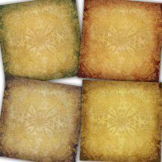 Grunge Digital Paper: Ornate Grunge with ornate by Lunabludesign