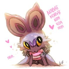 "aishishii: ""Noibat indeed is the cutest thing ever. Pokemon Show, Pokemon Fan Art, Cool Pokemon, Fanart Pokemon, Pokemon Stuff, Dragon Type Pokemon, Flying Type Pokemon, Pokemon Comics, Pokemon Memes"