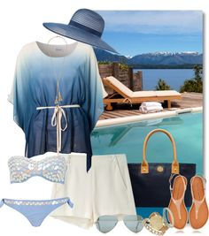 """Mountain Resort with a Poolside View"" by stylesdice ❤ liked on Polyvore"