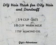 DIY Hair Mask for Oily Hair and Dandruff (that you'll adore instantly! Diy Hair Mask For Oily Hair, Diy Hair Mask For Dandruff, Best Diy Hair Mask, Hair Dandruff, Dandruff Remedy, Hair Masks, Oily Hair Remedies, Home Remedies For Hair, Greasy Hair Hairstyles