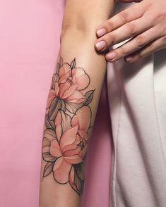 #sashatattooingstudio#tattoo#art#watercolortattoo#peonytattoo