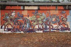 Mots Mots on Behance Mural Painting, Mural Art, Social Art, Douro, Vienna, Collaboration, Art Projects, Graffiti, Street Art