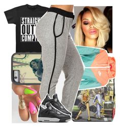 """Beyonce got the crown"" by lowkeytayy ❤ liked on Polyvore featuring NIKE and Retrò"