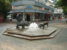 The Pig Fountain in Bad Oeynhausen Fountain, Germany, Places, Travel, Voyage, Viajes, Water Fountains, Traveling, Deutsch
